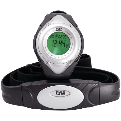 Pyle Pro Heart Rate Monitor Watch With Minimum Average & Maximum Heart Rate (silver)