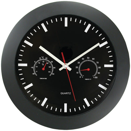 "Timekeeper 12"" Temperature & Humidity Wall Clock"