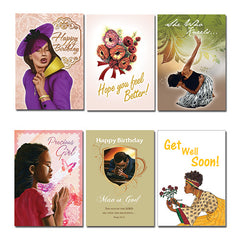 African American Expression All Occasion Assortment  Black American 18 cards per box