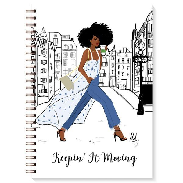 Stationery Writing Book Black Bible Keep it Moving Writing Journal Woman - NoveltyGal