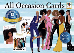 African American Expression All Occasion Assortment  Sister Friends Blue Box