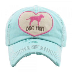 Women Dog Mom Dog Figure Factory Distressed Vintage Baseball Cap Hat Adjustable