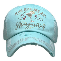 Women You Had at Margarita | Factory Distressed Vintage  Women's Cap Patch-Embroidery Hat Baseball | Margarita Drink Lover