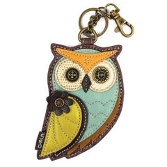 Chala Mixed Color Leather Owl Coin Purse - Charming Key Chain - Purse Charm