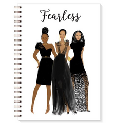 Stationary-Writing-Book-Black-Bible-Fearless Journal-Writing-Journal-Woman - NoveltyGal