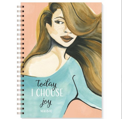 Stationary-Writing-Book-Black-Choose Joy-writing-Journal-Woman - NoveltyGal
