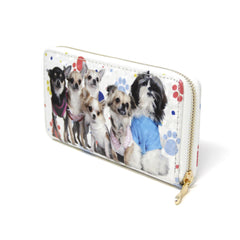 Women Pet Dog wallet credit card holder with small dog paw print detail Pet Lovers