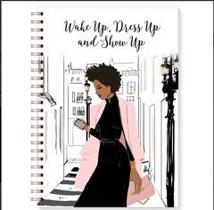 Stationery Writing Book Black Bible Wake up Show up Writing Journal Woman - NoveltyGal