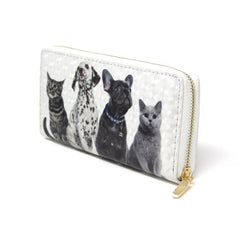 Women Pet Dog  & Cat wallet credit card holder with Dalmatian dog paw print detail Pet Lovers