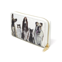 Women Pet Dog  & Cat wallet credit card holder with Hound dog paw print detail Pet Lovers