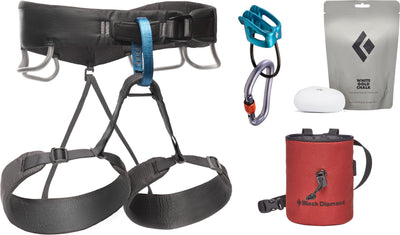 Black Diamond Momentum Climbing Harness Package - Men's