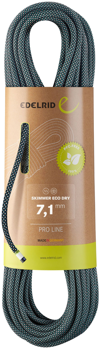 Edelrid Skimmer 7.1mm Eco Dry Dynamic Climbing Rope