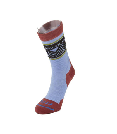 Fits Light Hiker Chevron Band Crew Socks - Women's