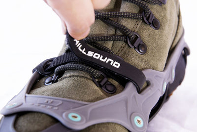 Hillsound FlexSteps - Ice Traction Device / Crampons, 18 Stainless Steel Spikes, 2 Year Warranty