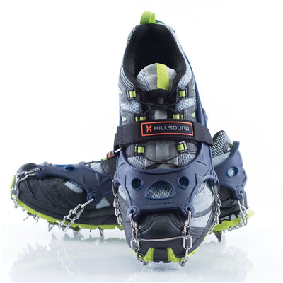 Hillsound Trail Crampon Ultra - Ice Traction Device / Crampons, 18 Stainless Steel Spikes, 2 Year Warranty