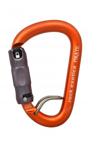 Rock Exotica Pirate Locking Carabiner - WireEye