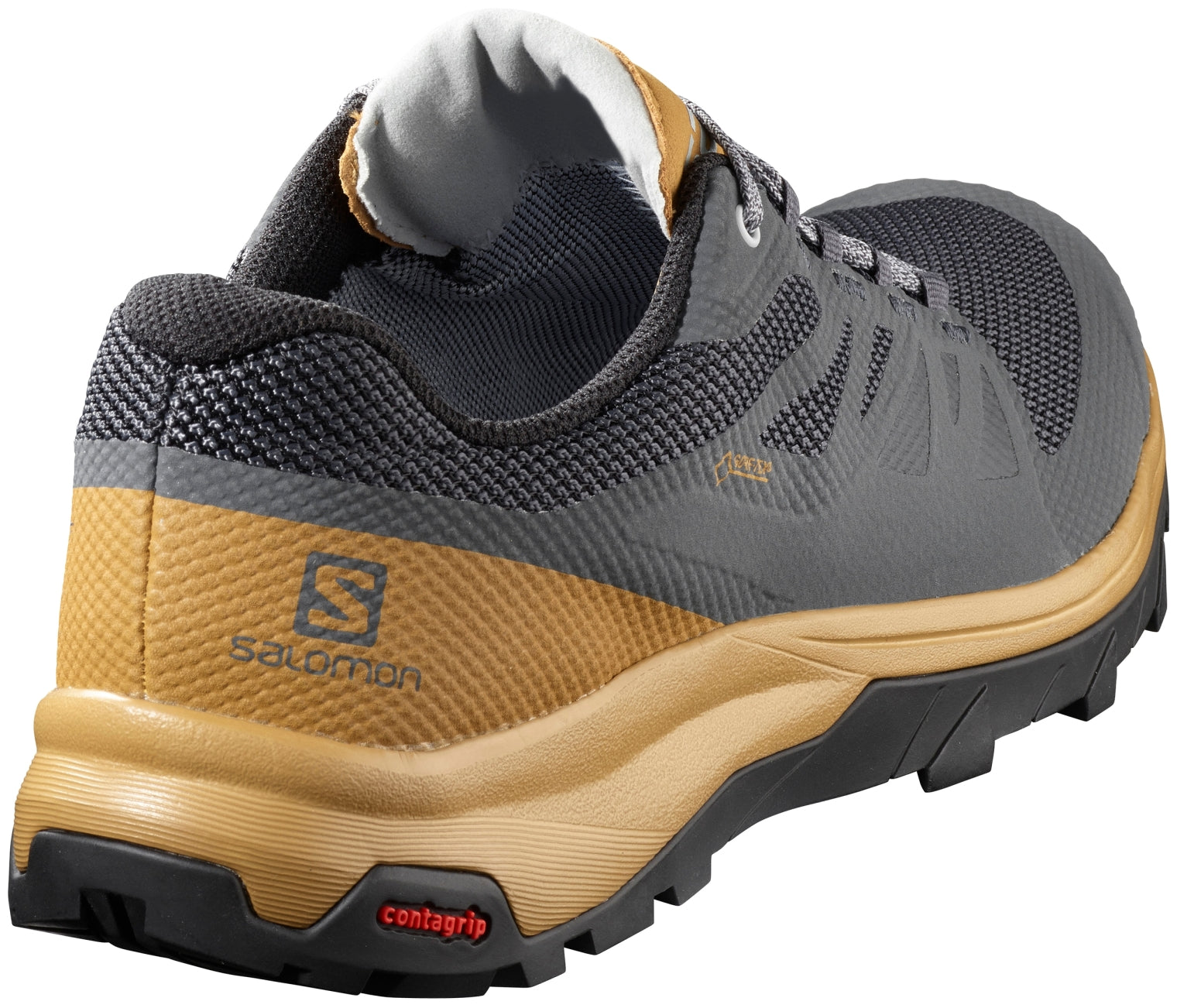 Details about Salomon Outline Goretex Mens Waterproof Hiking Shoes EbonyBistrePearl Blue