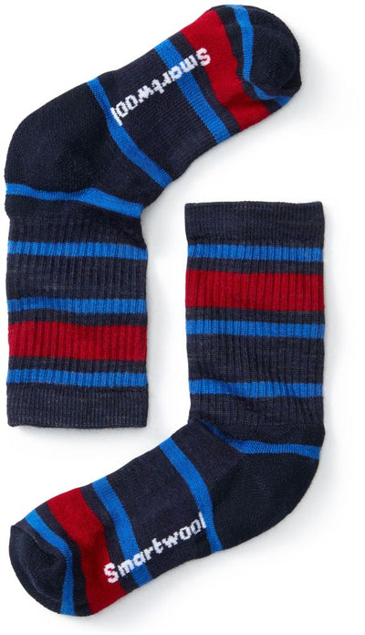 Smartwool Hike Light Striped Crew Sock - Youth