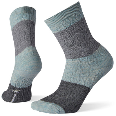 Smartwool Color Block Cable Crew Sock - Women's