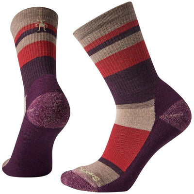 Smartwool Hike Light Striped Crew Sock - Women's