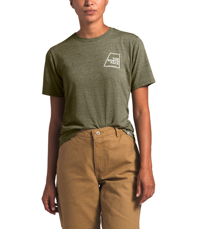 The North Face Short Sleeve Logo Marks Tri-Blend Tee - Women's