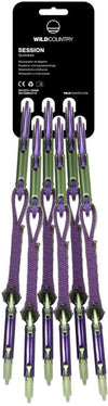 Wild Country Session Quickdraw 6 Pack - Purple/Green 12cm