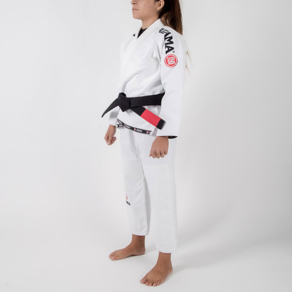 Atama Mundial Model 9 Women's Gi White Side Way Facing