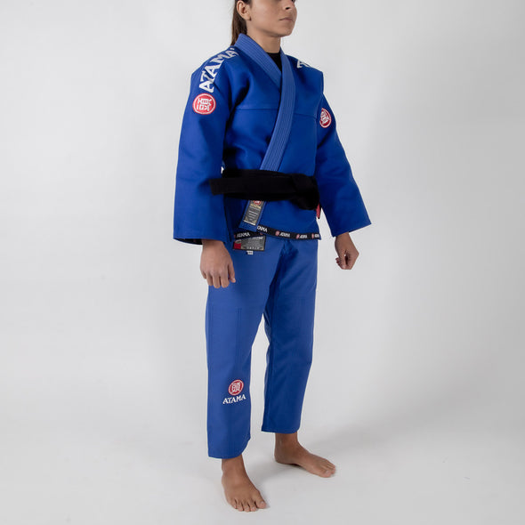 Atama Mundial Model 9 Women's Gi Blue Diagonal Facing
