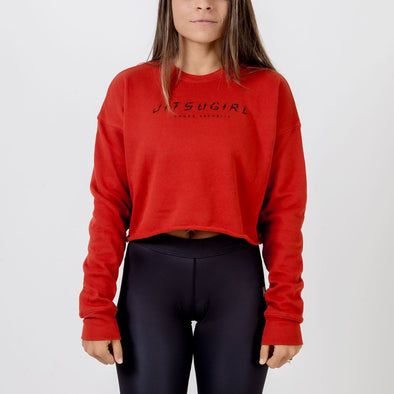 Choke Republic Jitsu Girl Women's Crop Crewneck - Fighters Market