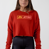 Choke Republic Gradient Box Women's Crop Hoodie - Fighters Market