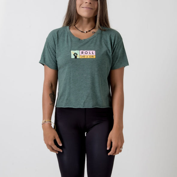 Choke Republic Roll Like A Girl Women's Crop Tee - Fighters Market
