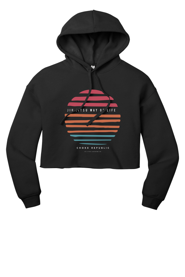 Choke Republic Way of Life V2 Women's Crop Hoodie - Fighters Market