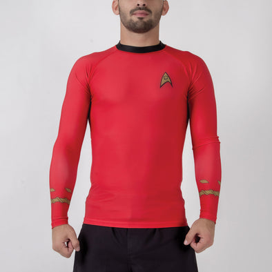 Fusion FG Star Trek Classic Uniform Rash Guard - Red - Fighters Market