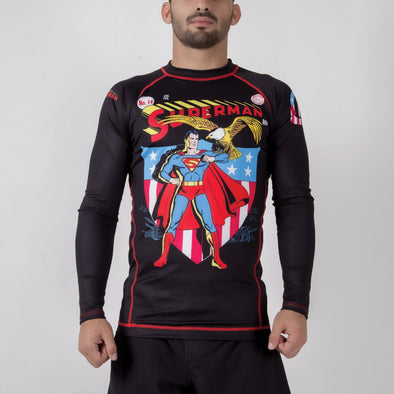 Fusion FG Superman Americana Rash Guard