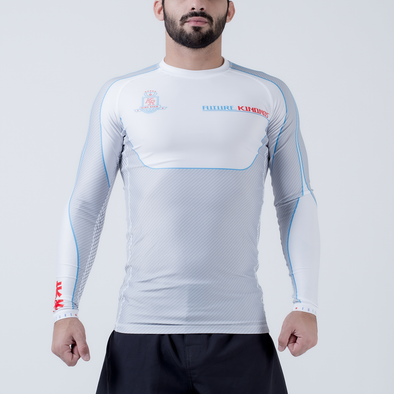 Future Kimonos King Ryan 2020 L/S Rash Guard - White - Fighters Market