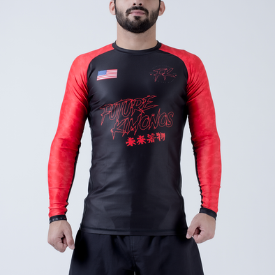 Future Kimonos Under Dawg L/S Rash Guard - Red - Fighters Market