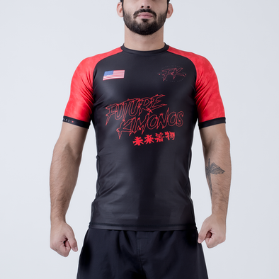 Future Kimonos Under Dawg S/S Rash Guard - Red - Fighters Market