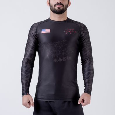 Future Kimonos Under Dawg L/S Rash Guard - Grey - Fighters Market