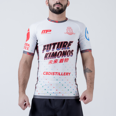 Future Kimonos Gordon Ryan ADCC Rash Guard - White - Fighters Market