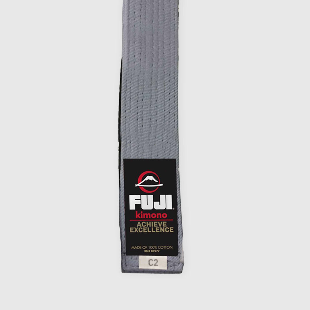 FUJI Kids Jiu-Jitsu Grey Belt BJJ 100/% Cotton Premium Quality