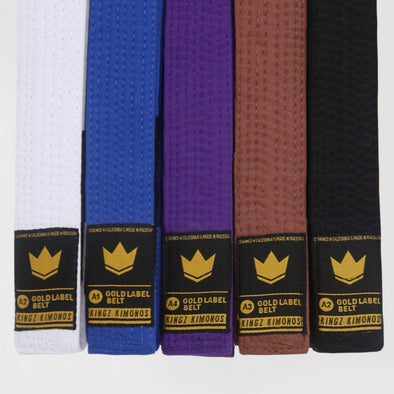 Kingz Gold Label V2 BJJ Belts - Fighters Market