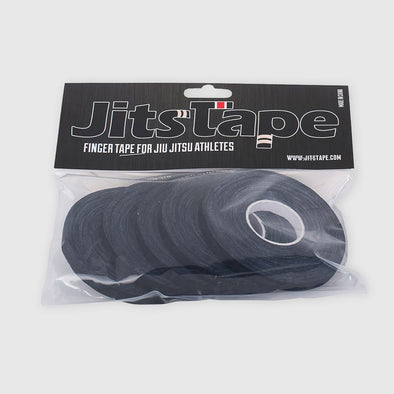 "JitsTape Finger Tape - 5 Rolls 1/4"" x 15 yards - BLACK - Fighters Market"