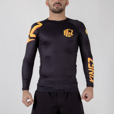 Kingz KGZ Rashguard Orange Edition Forward Facing