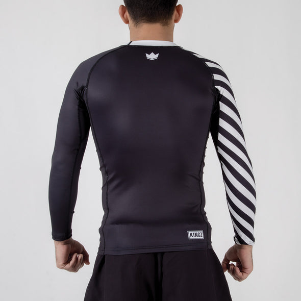 Kingz KGZ Ranked Rashguard- white backwards facing