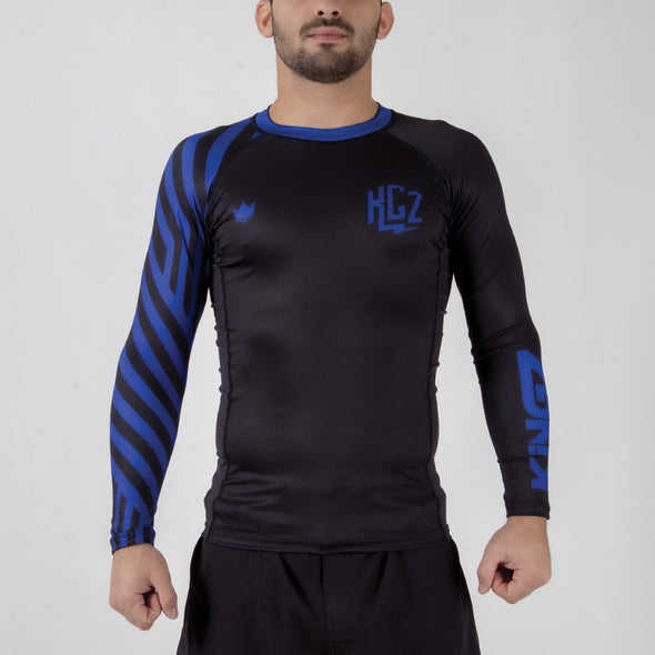 Kingz KGZ Ranked Rashguard- blue forward facing