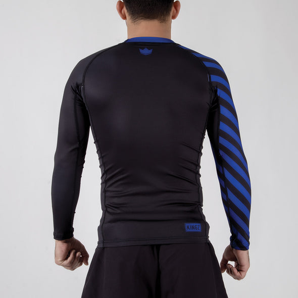 Kingz KGZ Ranked Rashguard- blue backwards facing