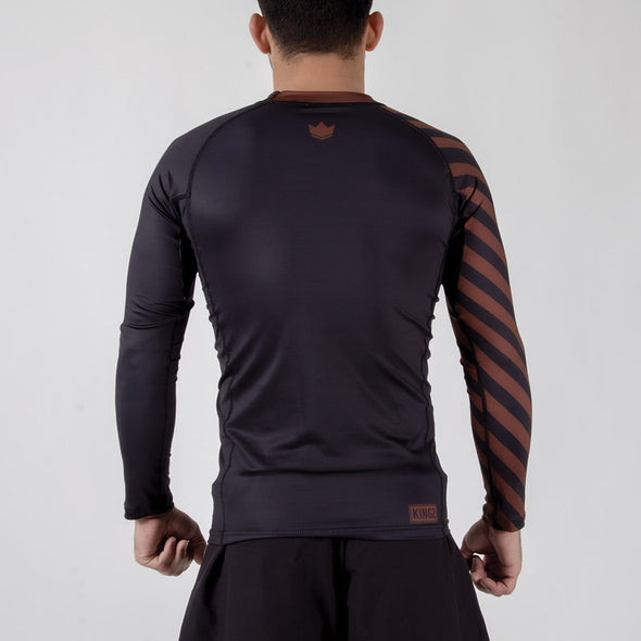 Kingz KGZ Ranked Rashguard- brown backwards facing