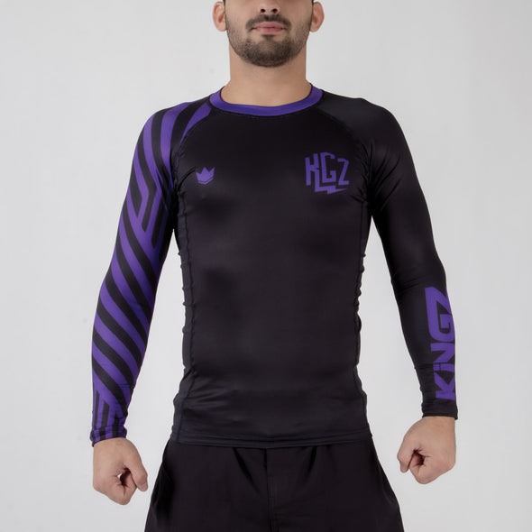 Kingz KGZ Ranked Rashguard- purple foward facing