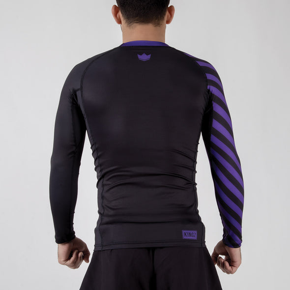 Kingz KGZ Ranked Rashguard- purple backwards facing