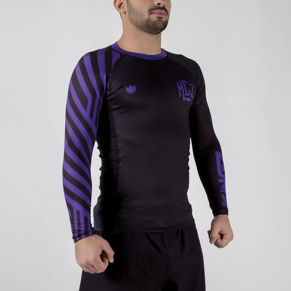 Kingz KGZ Ranked Rashguard- purple side facing